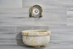 the turkish hamam bath-marble_washbasin