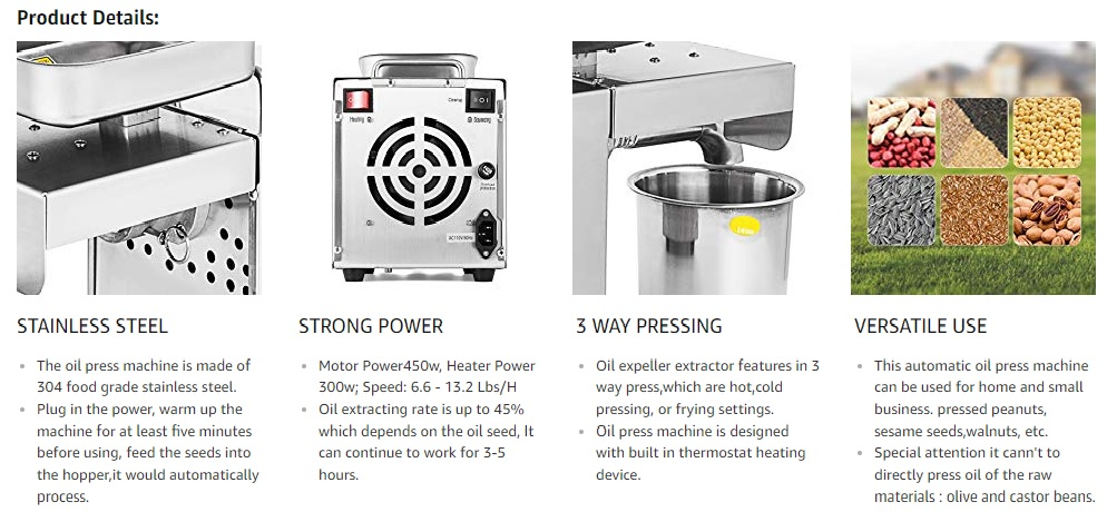 automatic oil press machines for home use-machine info